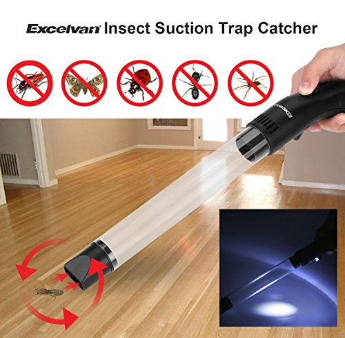 Pest Insect Suction Trap Catcher Spider Handheld Led Bug Buster Multi Functional Night Lamp Vacuum