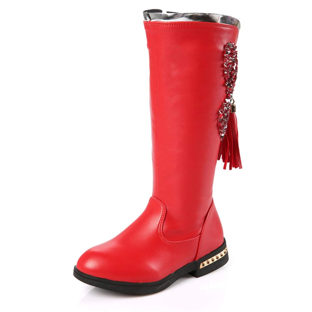 Boots Autumn and Winter Princess Martin Boots Red-EU 30//12.5 M US Little Kid