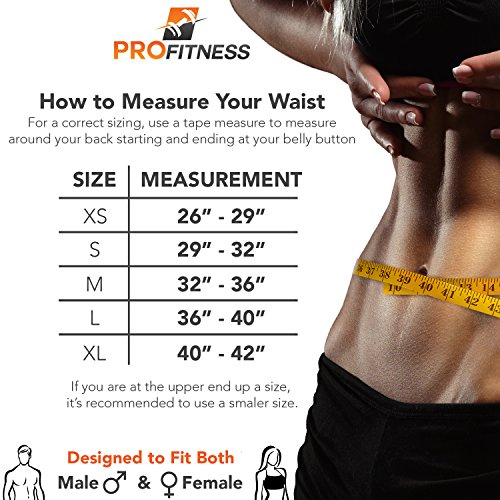 ProFitness Weightlifting Belt (6 Inch Wide) – Proper Weight lifting Form – Unisex Back Support for Cross Training Exercises, Powerlifting Workouts, Deadlifts, Olympic Lifting and Daily Fitness