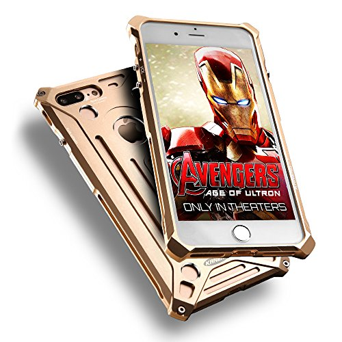 Aluminum Metal Bumper Case for Apple iPhone 7 (Gold) - 8