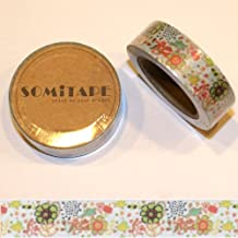 Paper Washi Tape Flower Drawings Design 10m x 1.5 cm by somi