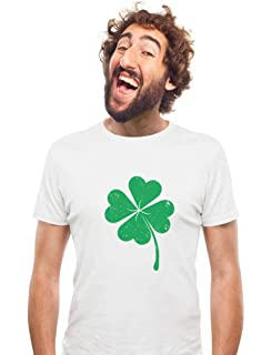 a94ffe15 TeeStars - Four-Leaf Clover - Saint Patrick's Day Irish Shamrock T-Shirt