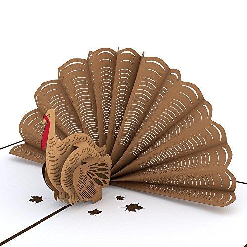 Lovepop Turkey Pop Up Card, 3D Card, Thanksgiving Card, Holiday Card ()