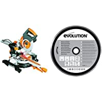 Evolution Power Tools - Build Multi-Purpose Sliding Mitre Saw (230 V) and Diamond Blade (210 mm)