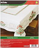Bucilla Stamped Cross Stitch Table Cloth Kit, Victorian Frieze, 86590 Size 60-Inch by 104-Inch