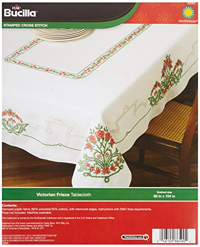 Stamped Cross Stitch Tablecloth - 7