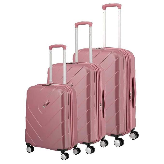 Travelite Kalisto Juego de maletas (4 ruedas) rosa 3-pc ...