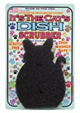 JetzScrubz Pet Dish and Bowl Scrubber Sponge, Cat, Made in The USA, Set of 1