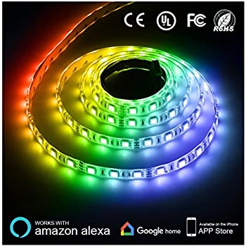 Texsens LED Light Strip Compatible with Alexa 300 Units 5050 SMD LEDs Tape Lighting  sc 1 st  Amazon.com & Amazon.com : Texsens LED Light Strip Compatible with Alexa 300 ... azcodes.com