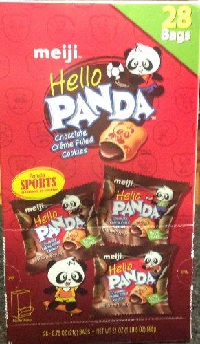 Meiji Hello Panda Chocolate Creme Filled Cookies 32 Bags