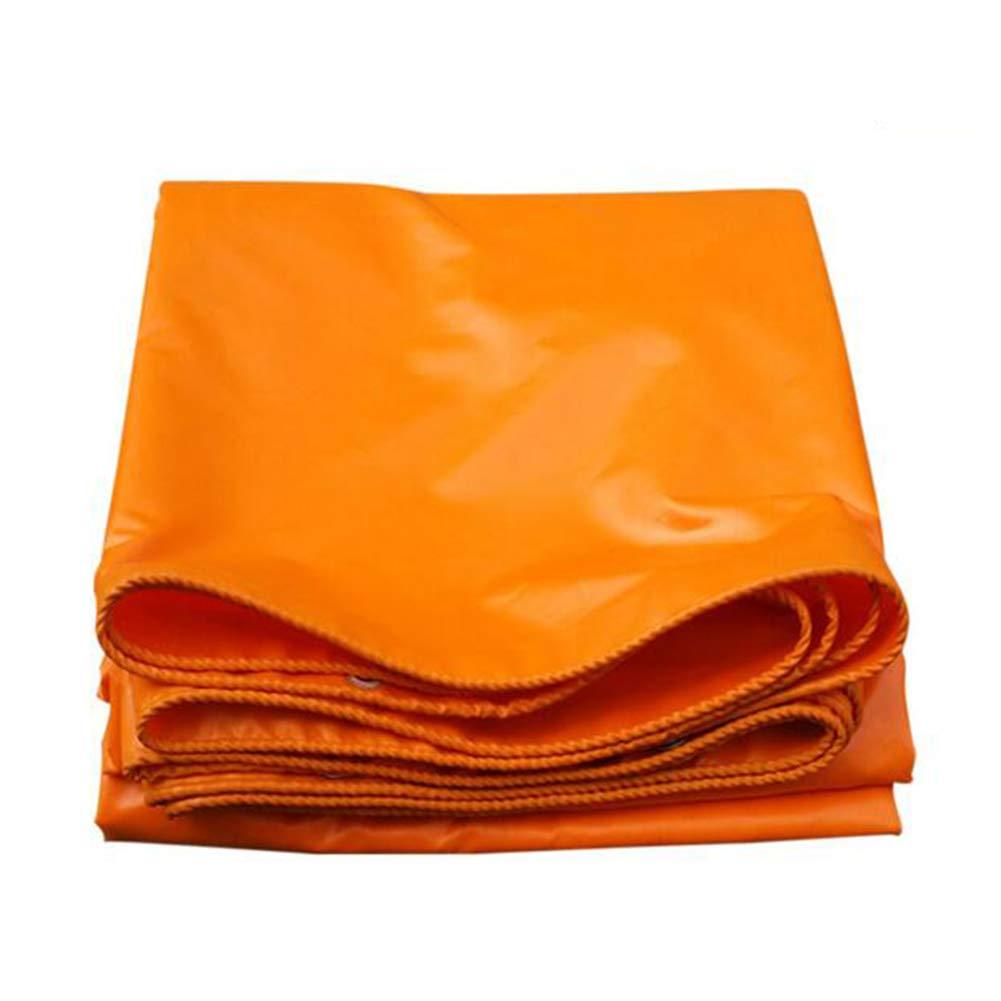 DALL ターポリン 防水 タープ シートカバー アウトドア 耐寒性 シェッドクロス 420 G/M² (色 : Orange, サイズ さいず : 3*4m) 3*4m Orange B07KVB24LH