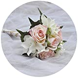 ULAPAN Wedding Bouquets For Bride,Bridal Bouquets Holding Flowers,Artificial Flowers For Wedding,Blush,F11