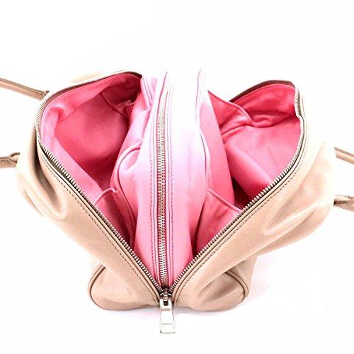 fba44c2fe381 ... where to buy prada soft beige pink calf leather inside bauletto  designer handbag for women 1bb010