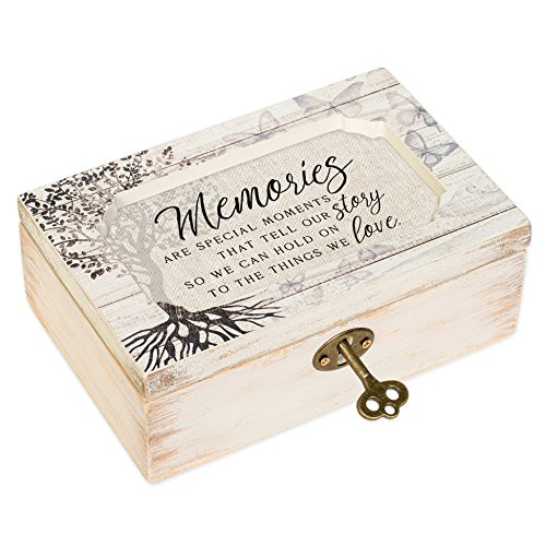 Memories Moments White Wash Butterfly Tree Petite Decoupage Music Box Plays What a Wonderful World