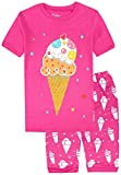 Pajamas for Girls Ice Cream Cotton Short Toddler Pants Summer Clothes 2 Piece 4Y