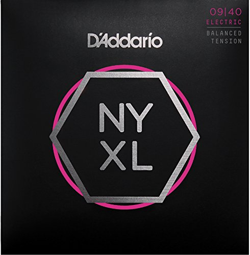 D'Addario NYXL0940 Nickel Plated Electric Guitar Strings,Super Light,Super Tension,09-40 – High Carbon Steel Alloy for Unprecedented Strength – Ideal Combination of Playability and Electric Tone