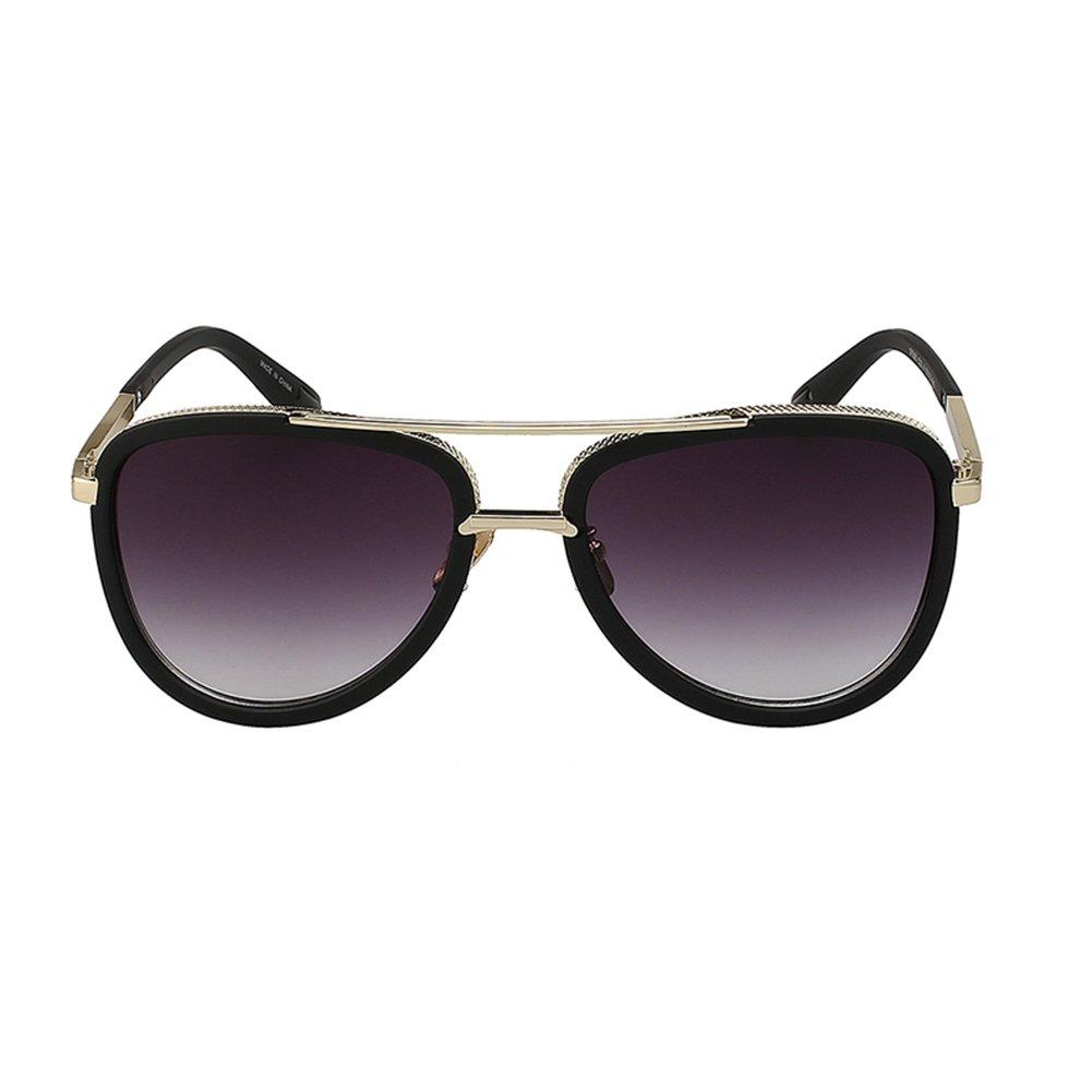 anteojos negro de sol B078SJ3QDG para hombre, estilo retro, clásico ...