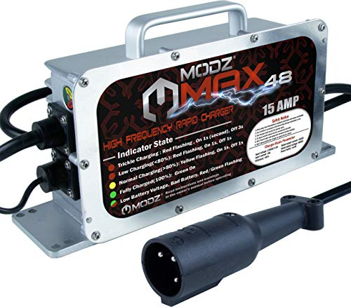 MODZ Max48 15 AMP Club Car Battery Charger for 48 Volt Golf - Car Battery Oem Charger