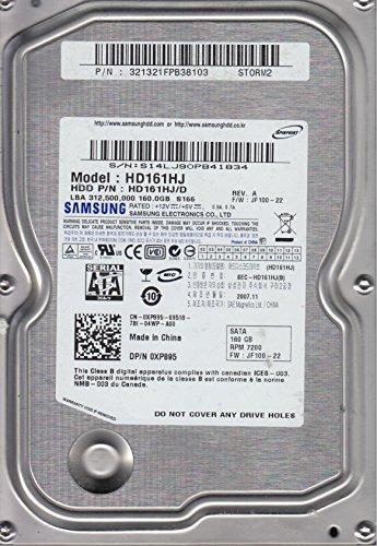 (HD161HJ, HD161HJ/D, FW JF100-22, STORM2, Samsung 160GB SATA 3.5 Hard Drive)