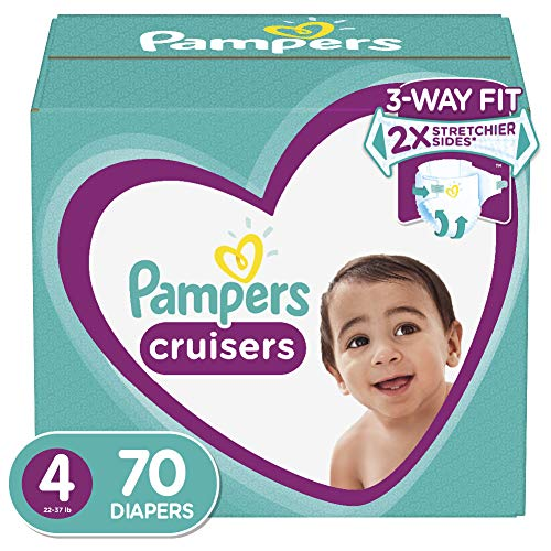 Diapers Size 4, 70 Count – Pampers Cruisers Disposable Baby Diapers, Super Pack (Packaging May Vary)