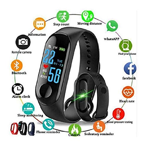 Aqisha Store M3 Smart Fitness Band Activity Tracker with waterproof body with vibration for Observing life New Edition