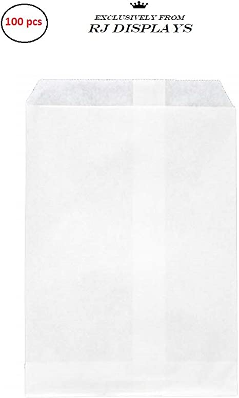 200 White Kraft Paper Bags 4 x 6 Good for Candy Cookies Small Gift Crafts Party Favor Sandwich Jewelry Merchandise by RJ Displays