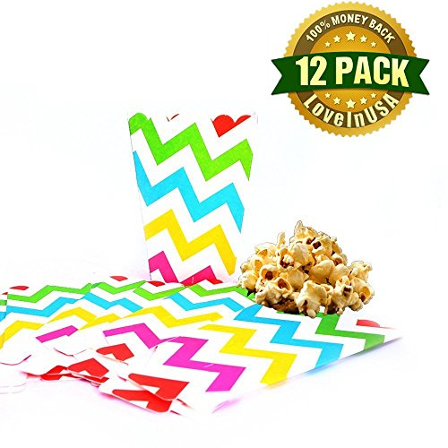 Popcorn Box, 12Pcs Paper Mini Colorful Striped Popcorn Boxes Christmas Party Food - Buffet Xmas Food Ideas