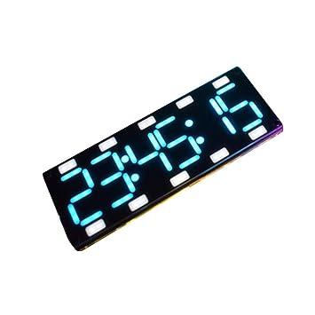 wiFndTu Reloj de Pared, Reloj de sobremesa de Control táctil de Tubo táctil Digital de Dos dígitos LED de Bricolaje 6 dígitos - Azul: Amazon.es: Hogar
