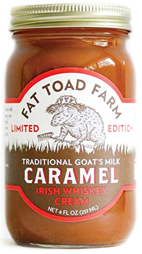 Fat Toad Farm Traditional Goat's Milk Caramel Sauce, Irish Whiskey Cream, 8fl oz Jar, Cajeta, Gluten Free made in Vermont