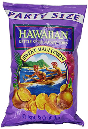 Hawaiian Kettle Style Potato Chips, Sweet Maui Onion, 8 Ounce (Low Salt Potato Chips)