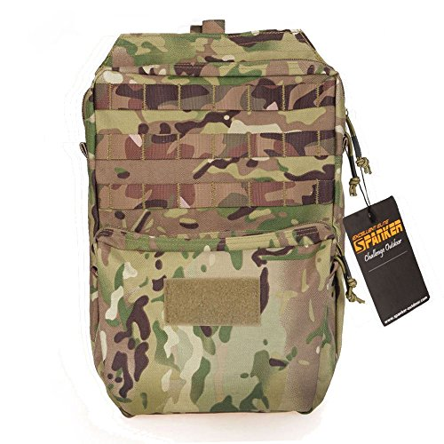 Price comparison product image Military Tactical Backpack Outdoor Bag Molle Bladder Carrier Nylon Rucksack Combat for Shooting Hunting Hiking Camping (MC)