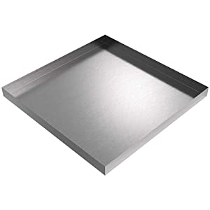"32"" x 32"" x 2.5"" Stainless Washing Machine Drip Pan"