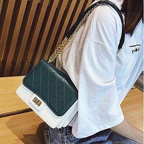 hombro 15cm Claro para claro 8cm xiaohu verde Bolso 18cm Verde al × × mujer BzqgzZEx