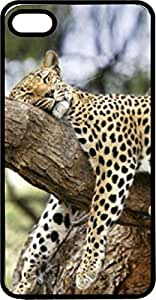 Cheetah Lounging In Tree Black Plastic Case For Sam Sung Note 2 Cover