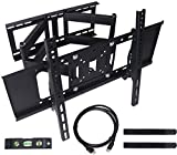 """AIQUE Dual Articulating Arm TV Wall Mount Bracket for Most 32-65"""" Inch LED, LCD and Plasma Flat Screen TV, up to VESA 400x400mm and 110 LBS"""