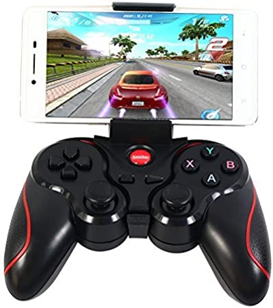 PowerRider T3 de Bluetooth inalámbrico VR controlador de juego gamepad con teléfono Android de Bluetooth controlador Android de juegos inalámbrico Gamepad Joystick para teléfono inteligentes/Tabletas/Smart TV Cajas/TV T3 With Holder: Amazon.es: Informática