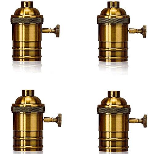 Homestia E26  E27 Medium Light Socket Copper Shell Edison