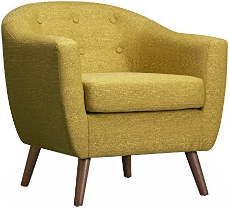 Poly and Bark Layna Mid-Century Accent Chair, Olive Green