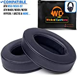 Wicked Cushions Upgraded ATH M50X Earpads - Compatible with Audio Technica M40X / M30X / M20X / M50XBT / HyperX Cloud & Cloud 2 / SteelSeries Arctis 3/5 / 7 & Arctis Pro Wireless