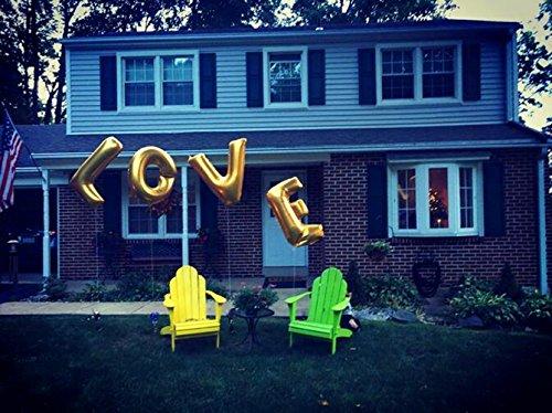 [해외]Ruimeier 사랑 (40 인치)와 나는 다이아몬드 반지 (27 인치) 여분의 대형 풍선 세트, 독립 기념일, 축제, 낭만적 인 결혼식, 신부 샤워, Annive/Ruimeier Love (40 Inch) and  I do  Diamond Ring (27 Inch) Extra Large Balloon Set, Independence ...