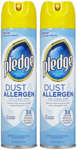 Pledge Dust & Allergen Furniture Spray - 9.7 oz - 2 pk - Pledge Dust