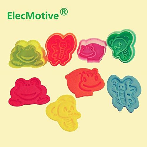 ElecMotive 4 teiliges Cookie Cutters Plätzchenformen Backformen Fondant Keks Ausstechformen Set mit Auswerfer Farbe zufällig gesendet (L)