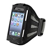 INSTEN Compatible with Apple® iPhone® 4/4S Sport Workout Armband – Black/Sliver image