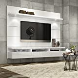 """Manhattan Comfort Cabrini Theater Panel 1.8 Collection TV Stand with Drawers Floating Wall Theater Entertainment Center, 71.25"""" L x 16.73"""" D x 67.24"""" H, White"""