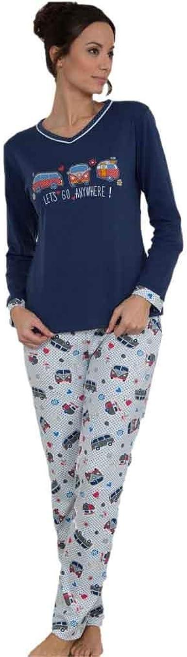 MASSANA Pijama de Mujer Combinado P681210 - Azul Oscuro, S ...