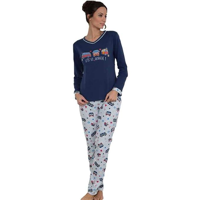 MASSANA Pijama de Mujer Combinado P681210 - Azul Oscuro, L