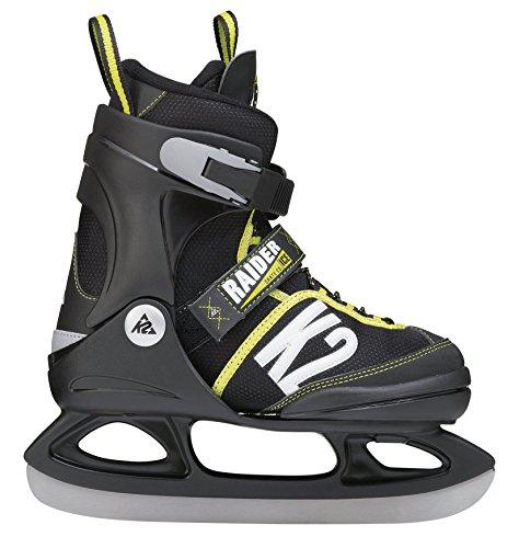 K2 Kinder Schlittschuhe Raider Ice, Schwarz-Gelb, 4-8, 2550203.1.1.L