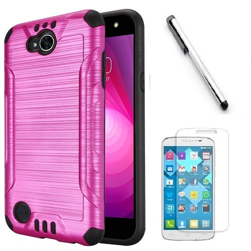 Huawei Ascend XT2 H1711 Case, Huawei Elate 4G Case, Luckiefind Hybrid Dual  Layer Hybrid Shockproof Impact Case Cover, Stylus Pen Accessory (Pink)