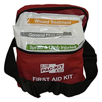 Pac-Kit by First Aid Only 7119 78 Piece First Aid Kit with Fabric Fanny Pack
