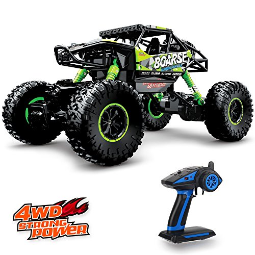 Geekper Electric RC Car – Offroad Remote Control Cars – RTR RC Buggy RC Monster Truck 1:16 4WD 2.4Ghz High Speed with 1 Rechargeable Battery (Green)